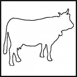 Cow craft, Craft patterns and Dairy on Pinterest
