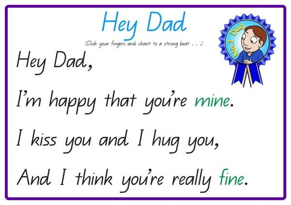 Short Fathers Day Poems For Children Fathers Day Poems