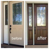 My fiberglass front door had wood grain so I decided to ...