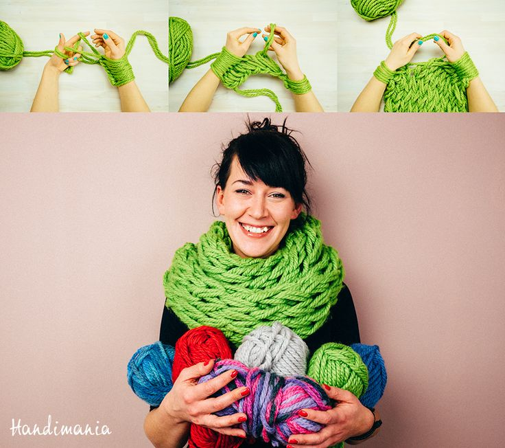 The arm knit infinity scarf by handimania.com
