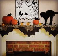 Bats Mantle Scarf | Shelves, Mantles and Pumpkins