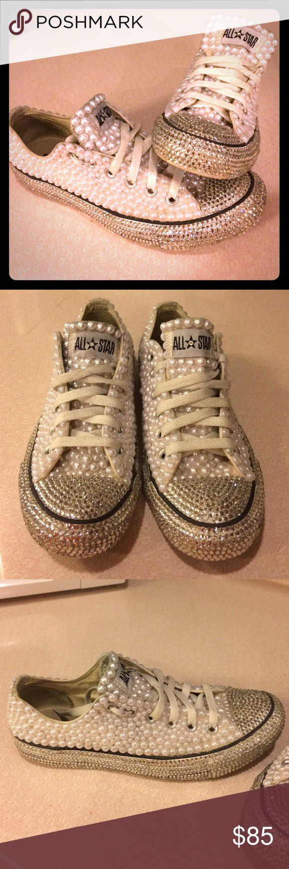1000 ideas about Bedazzled Converse on Pinterest  Bling