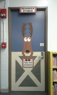 raindeer school door decoration
