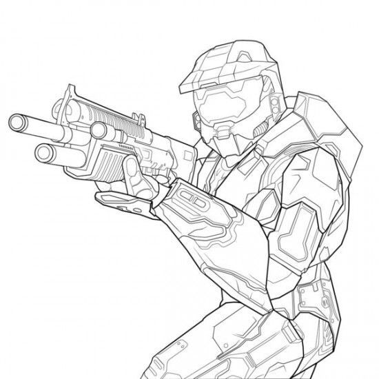 9 best images about Halo 5 4 3 Reach Coloring Pages on