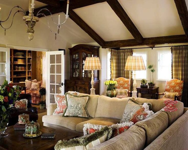 French Country Family Room  Design Favorite Rooms