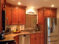 Kitchen Cabinet Discounts RTA cabinet above refrigerator ...