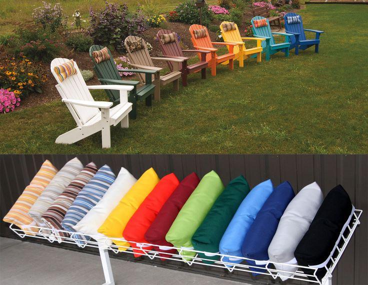 Adirondack Chair head pillows  16x8 outdoor stain