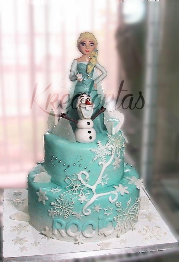 Torta Elsa De Frozen Kreatortas Pinterest Elsa And