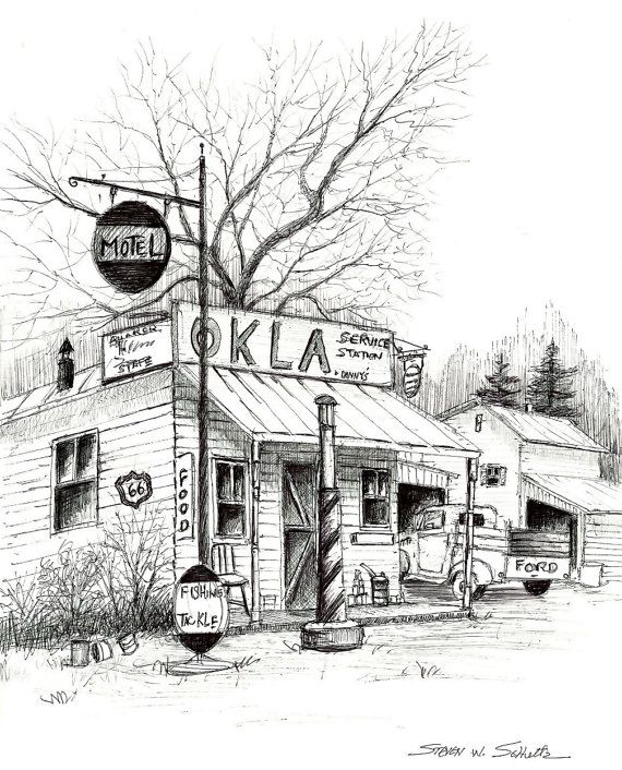 Service Station 10.5 x 13 Hand Signed Limited Edition