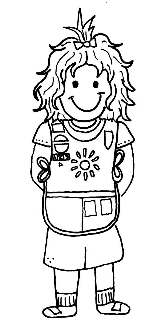 17 Best images about Girl Scout Coloring Pages