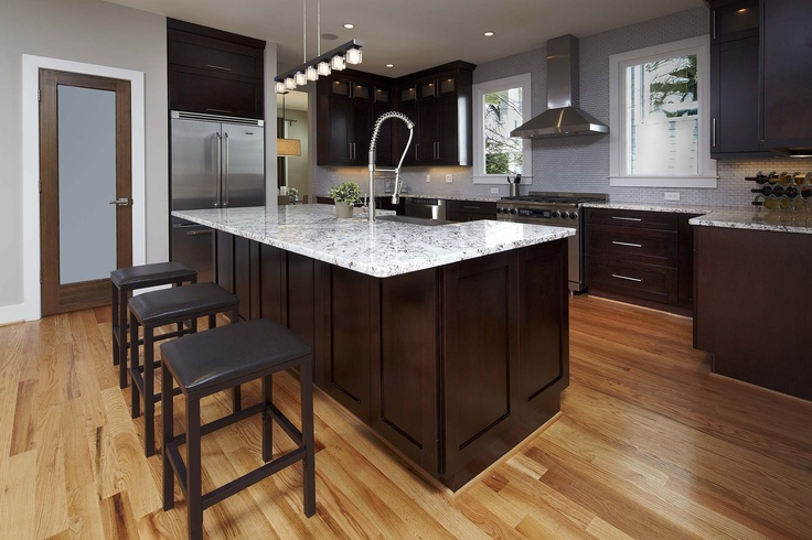 cherry wood kitchen cabinets photos cabinet outlet nj lighter granite with espressor cabinets, flooring ...