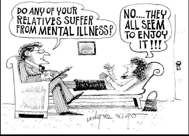 Do any of your relatives suffer from mental illness? No