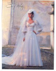 1980's wedding dress