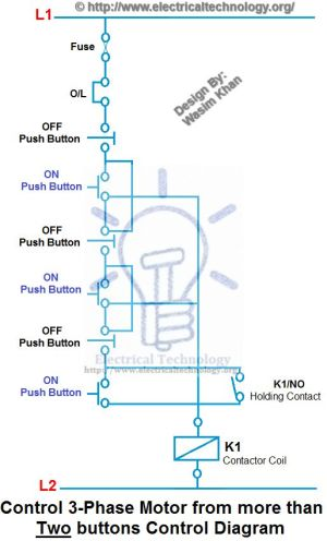 Control 3Phase Motor from more than Two buttons Control