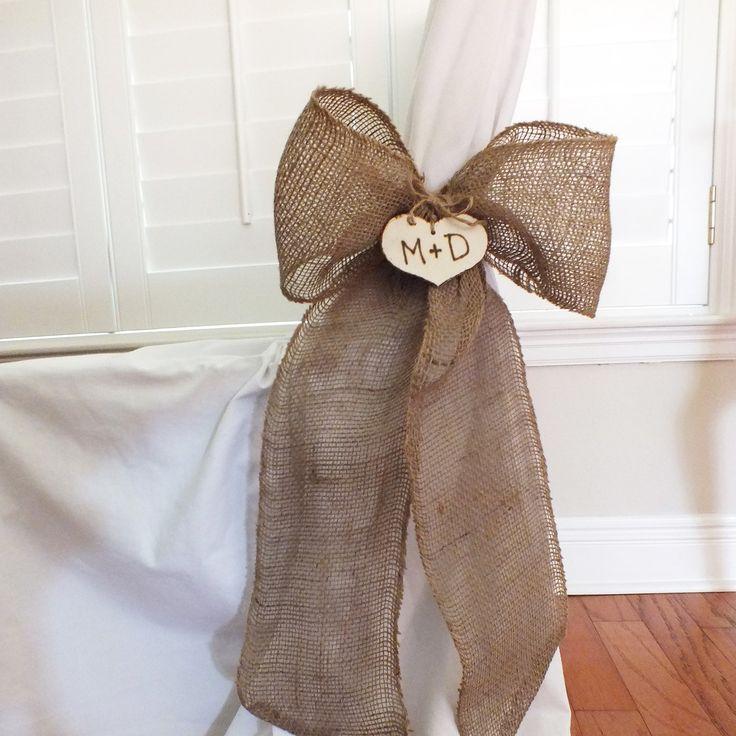 Burlap Bows Or Burlap Pew Bows Rustic Wedding by