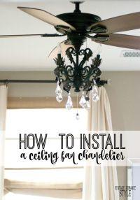 25+ best ideas about Ceiling Fan Chandelier on Pinterest ...