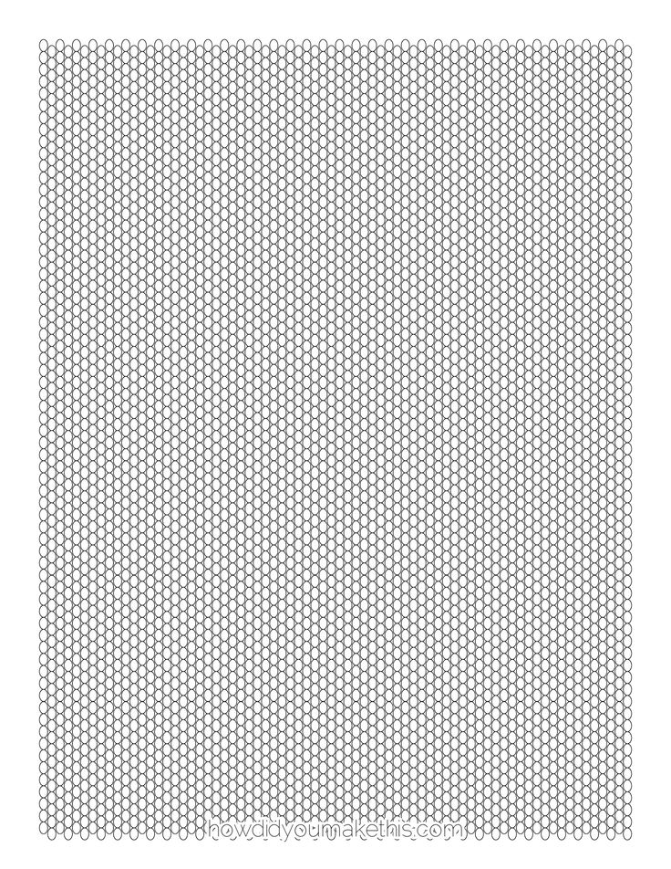 peyote stitch graph paper