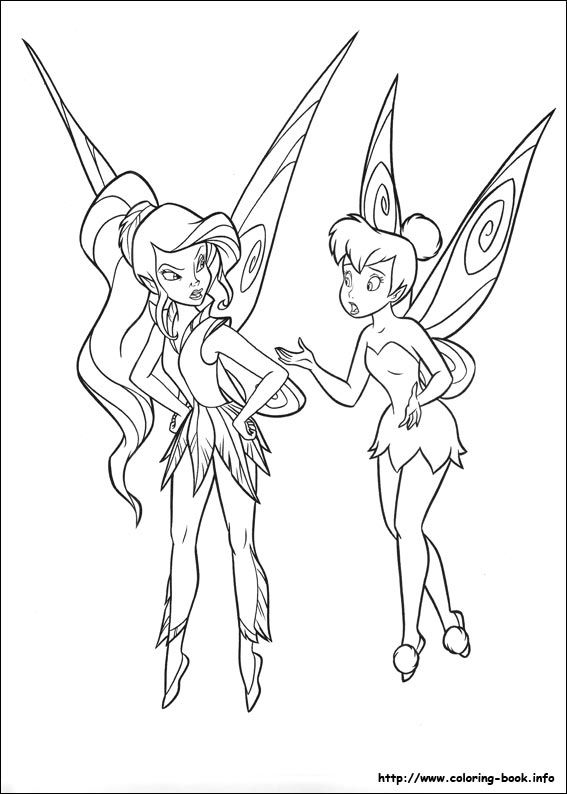 1000 Images About Tinkerbell Coloring Pages