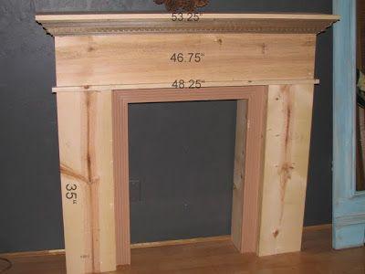 Diy Faux Fireplace Mantel Shelf