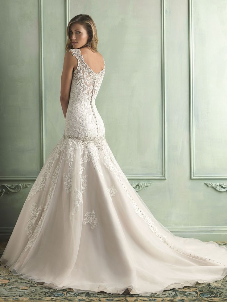 Drop Waist Wedding Dress