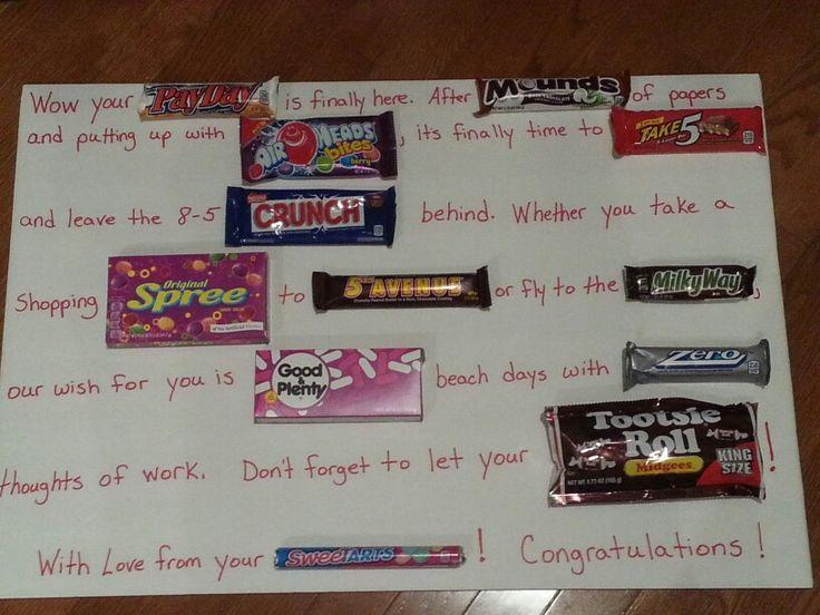 Candy Bar Retirement Poster Good Ideas Pinterest