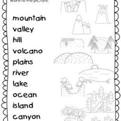 Blank Rock Cycle Diagram Worksheet Gmc Trailer Wiring This Landforms Worksheets Allows Students To Match The Names Of With Correct ...