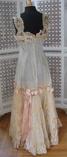Maria Niforos – Fine Antique Lace, Linens & Textiles : Antique & Vintage Clothing # CL-56 Exquisite Princess Petticoat w/