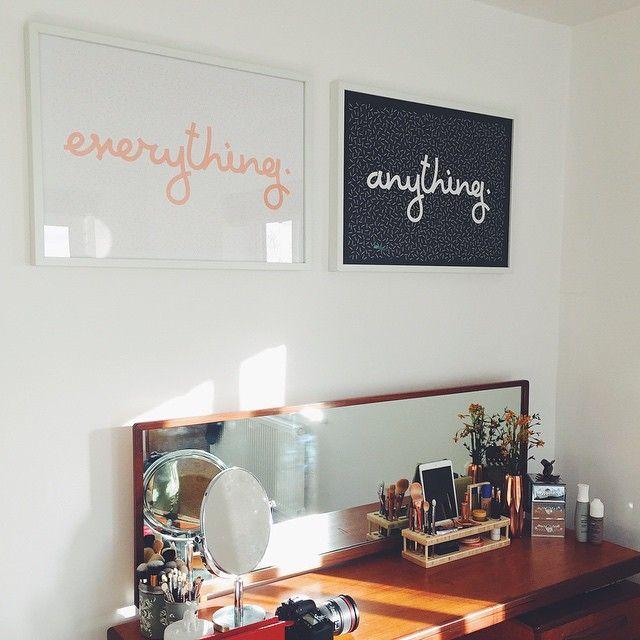 Everything  Anything  zoellas vanity  Zoella