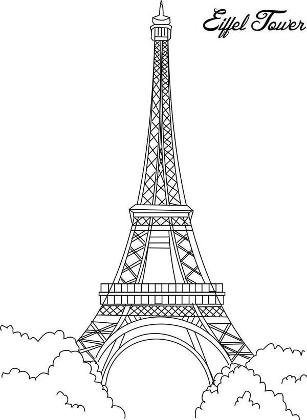 Eiffel Tower, Eiffel Tower is The Proud of France Coloring