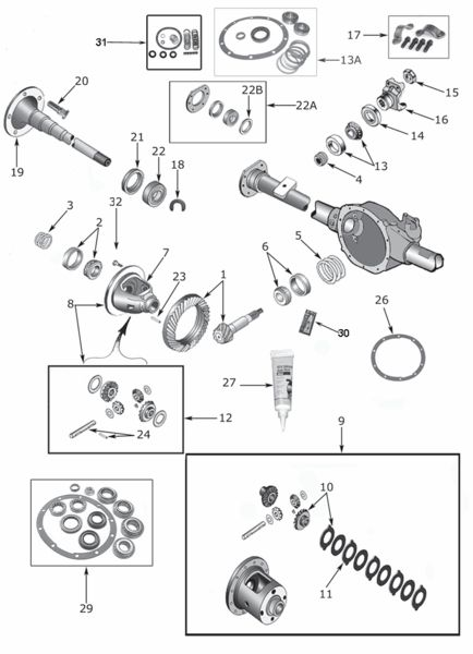 9 best images about Jeep Rear Axle Parts on Pinterest