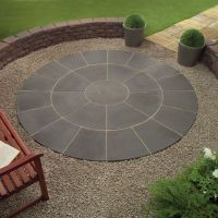 Wonderful Grey Color Wood Stone Unique Design Backyard ...