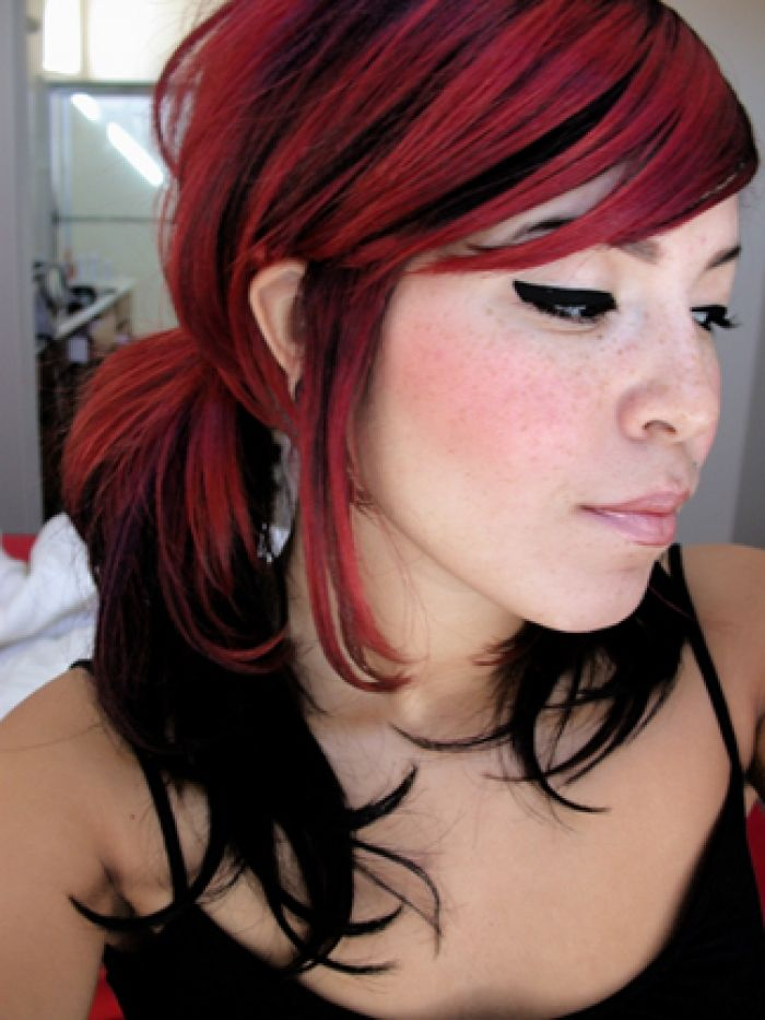 25 Best Ideas About Red Black Hair On Pinterest Black Cherry