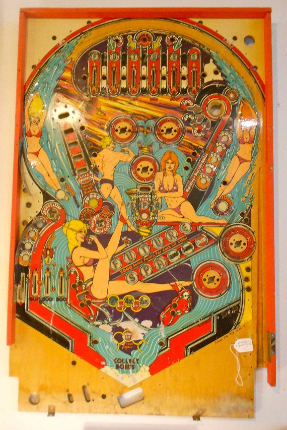 Future Spa Vintage Pinball Machine Playfield By Hazelhome