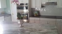 Another great kitchen by USA Stone and Tile! Island and ...