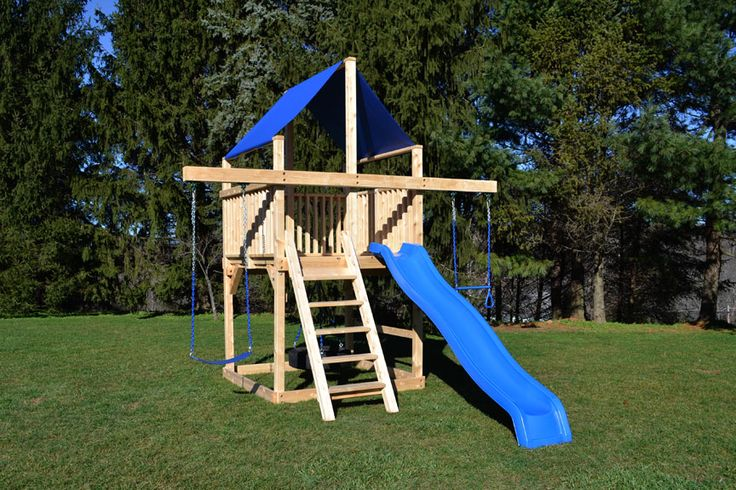 How To Build A Wooden Swing Set With Fort  WoodWorking Projects  Plans