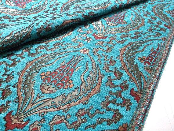 Turquoise Velvet Fabric