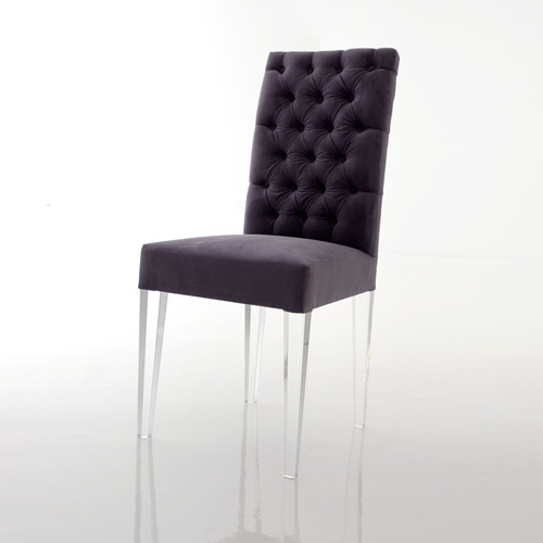 grey upholstered chair white legs best drafting tight back acrylic leg dining materials: with upholstery dimensions: 19w x 19d ...