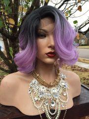 purple short wig basement lavender