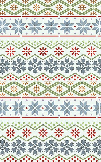 Nordic pattern. Maybe we could create this image (like our wrapping paper) as the background?