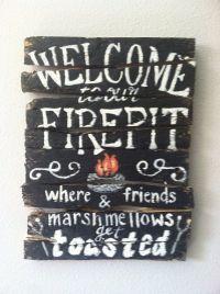 Sale Item FIRE PIT Wooden Sign by embellishwoodshop on ...