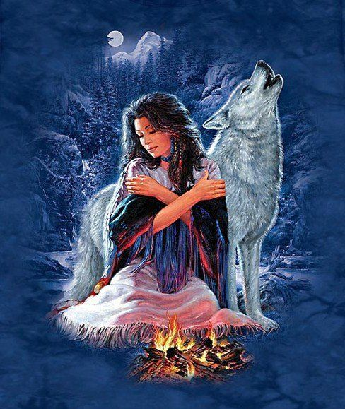 Girl Tshirts Hd Wallpaper Indian Maiden And Wolf 32478 131244990220745