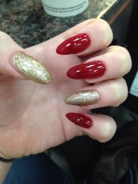 Red And Gold Nail Designs For Prom | www.imgkid.com - The ...