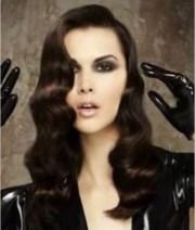 long hair finger waves hayer