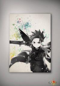 Sword Art Online Kirito Watercolor Print 8x11 11x16 ...
