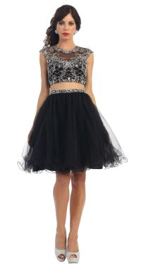 Two Piece Short Prom Dress Homecoming | Sexy, Prom dresses ...