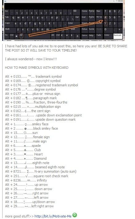 25+ best ideas about Keyboard symbols on Pinterest