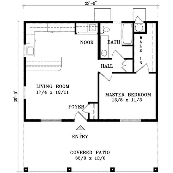 25 Best Ideas About 1 Bedroom House Plans On Pinterest Guest