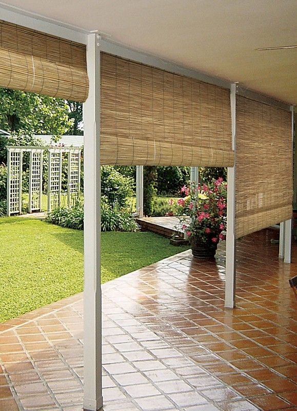 Outdoor Sun Shades Patio Blinds Ideas Curtains With