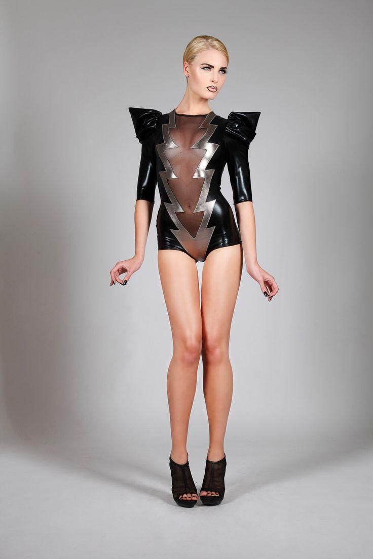 Lightning Bolt Bodysuit Dance Costume Burning Man David