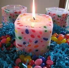 Jelly bean candles are seas